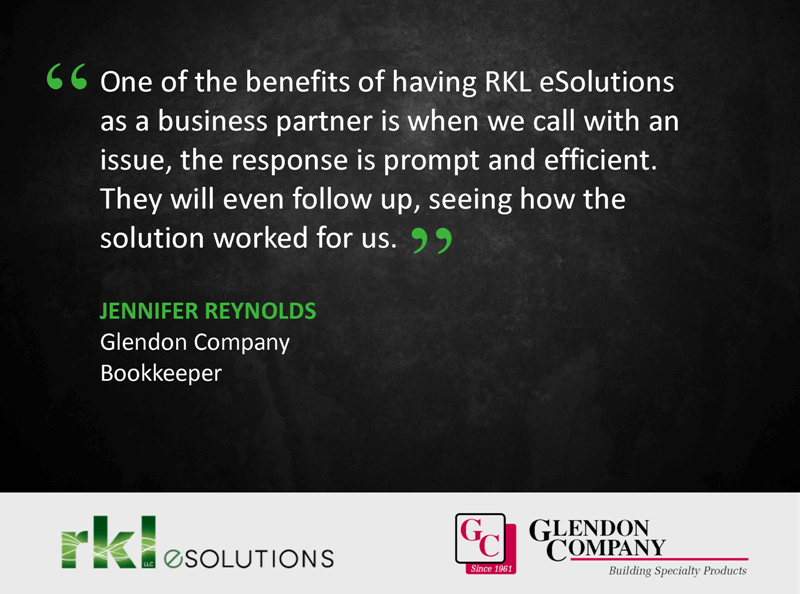 """One of the benefits of having RKL esolutions a s a business partner is when we cal with an issue, the response is prompt and efficient. They will even follow up, seeing how the solution worked for us."""