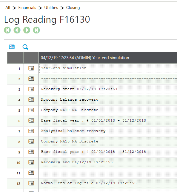 4- log reading