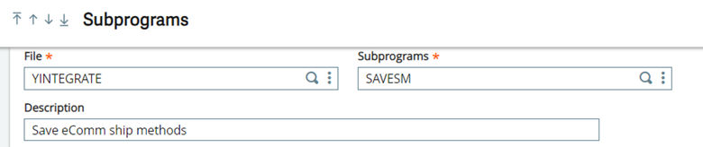 Sage X3 SubPrograms