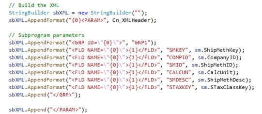 Build XML Sage X3