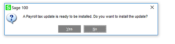 Sage 100 Dialogue box