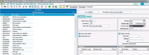 Sage ERP X3 Screenshot