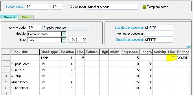 Sage X3 Supplier Grid