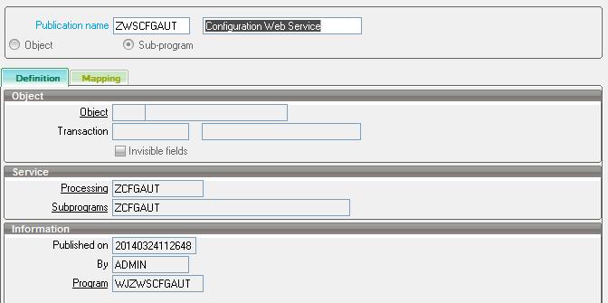 Sage ERP X3 Web Service