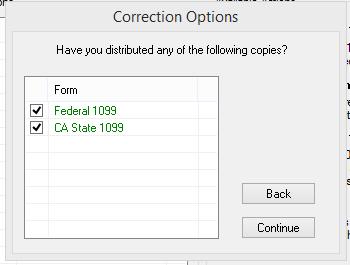 1099 post- Correction Options