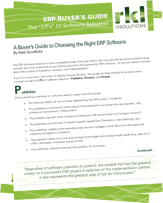 A Buyer's Guide to Choosing the Right ERP Software