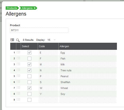 Sage X3 Allergen Tracking