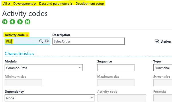 Configuring Activity Code Sage X3
