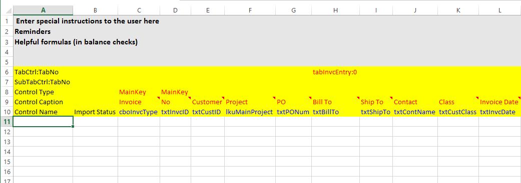 DataPorter Rows 6-10