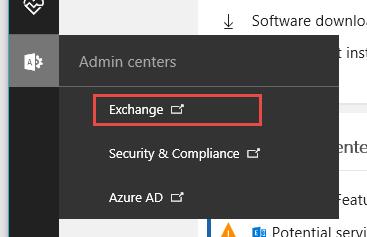 MS Exchange Option