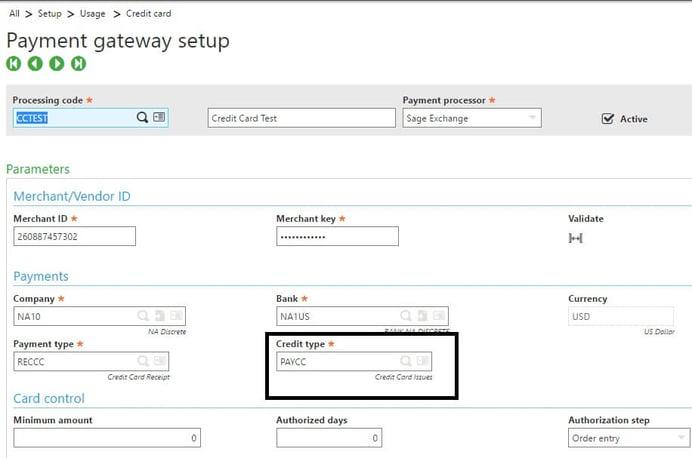 Sage X3 Payment Gateway