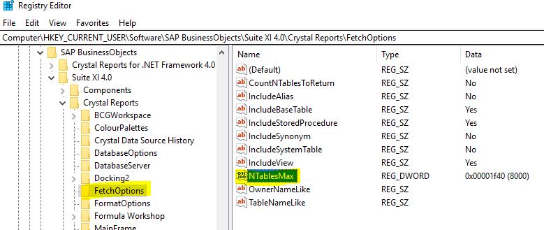 Registry Editor Screenshot