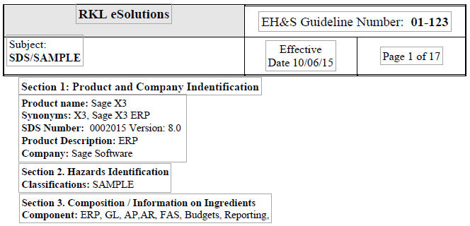 New Safety Data Sheets Standards You Need To Know Now