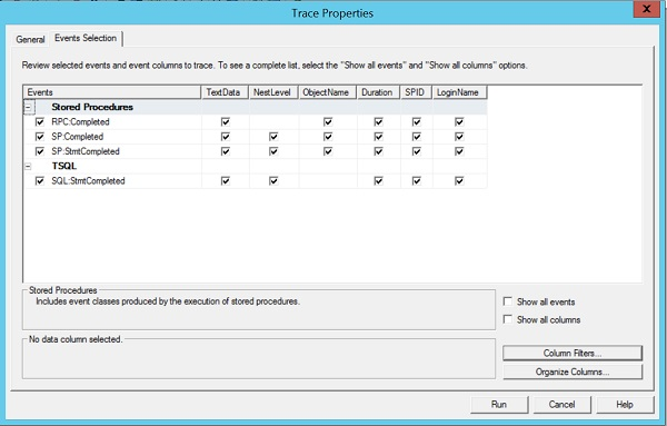 Sage 500 SQL Profiler Trace