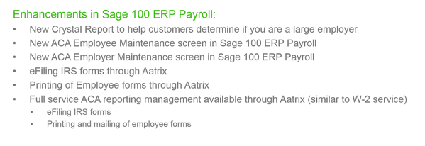 Sage 100 ERP Payroll Enhancements