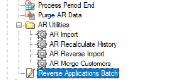 Sage 500 Reverse Applications Batch