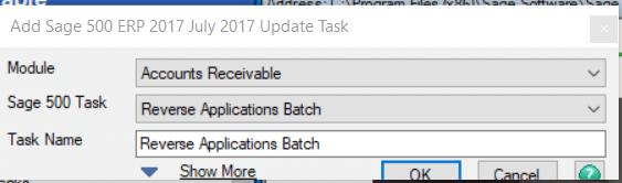 Sage 500 Update Task