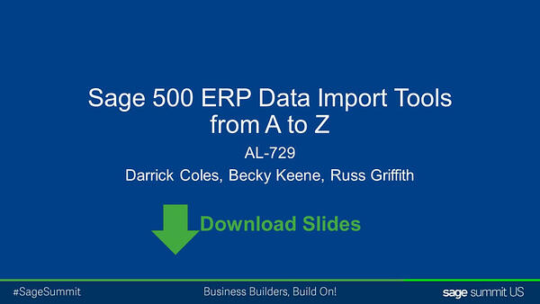 Getting More Out of Sage 500 ERP