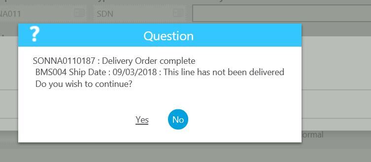Sage X3 Partial Delivery
