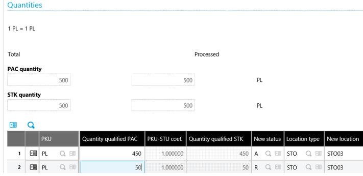 Sage X3 Quantities Grid