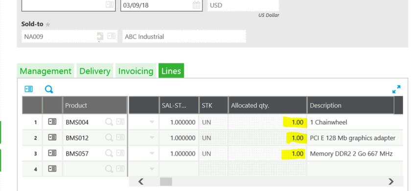 Sage X3 Sales Order Allocation