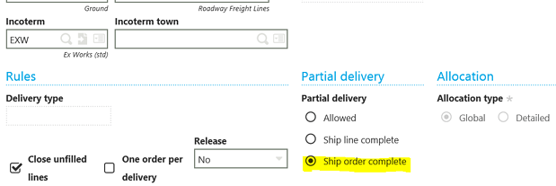 Sage X3 Sales Order with Multiple lines