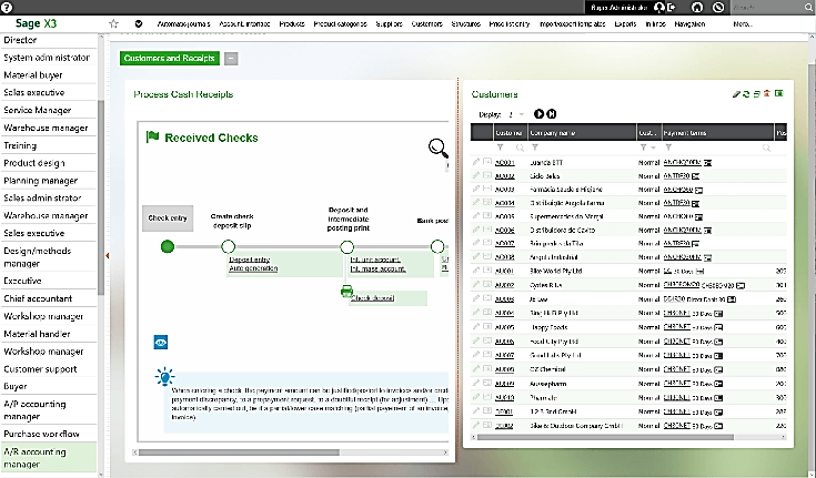 Sage X3 Visual Process Flow