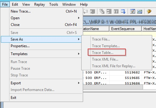 Save to SQL Table