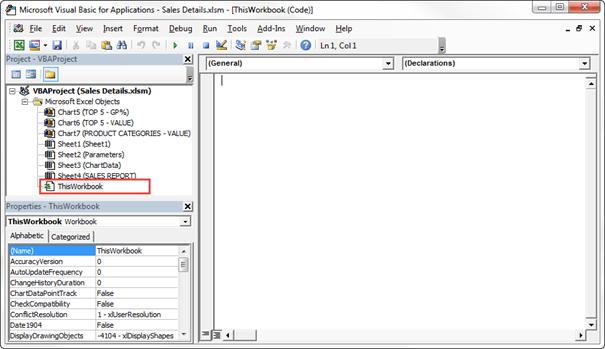 ThisWorkbook Excel