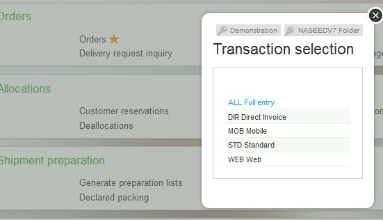 Sales X3 Direct Sales Order
