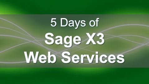 Sage X3 Web Services