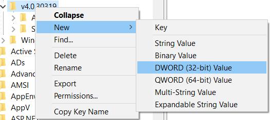 registry key value