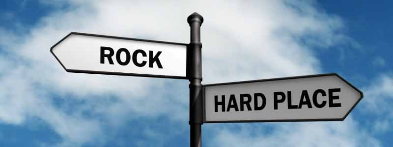 Business Decisions Rock Hard Place