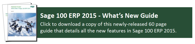 Sage 100 ERP 2015 What's New Guide