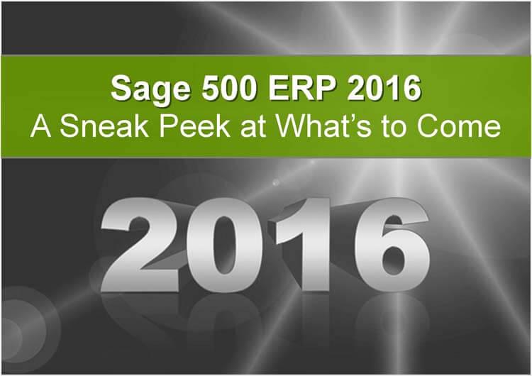 Sage 500 2016