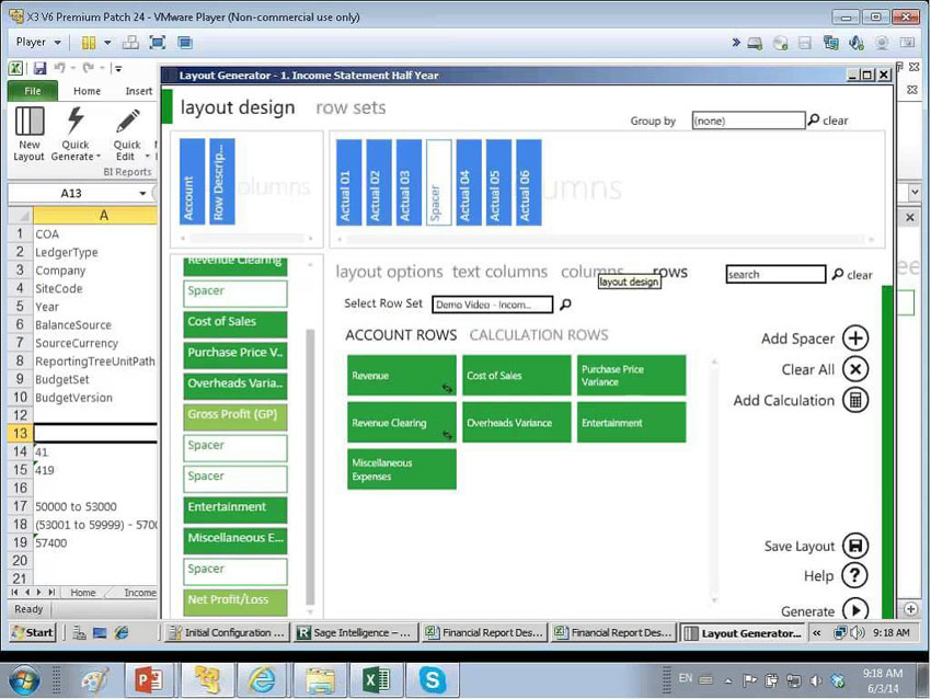 Sage X3 Intelligence Reporting Dashboard