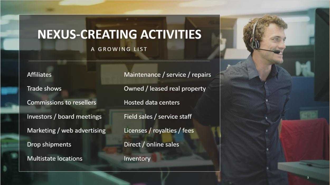 Nexus activities