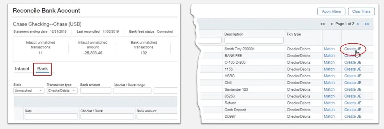 Streamlined Bank Rec