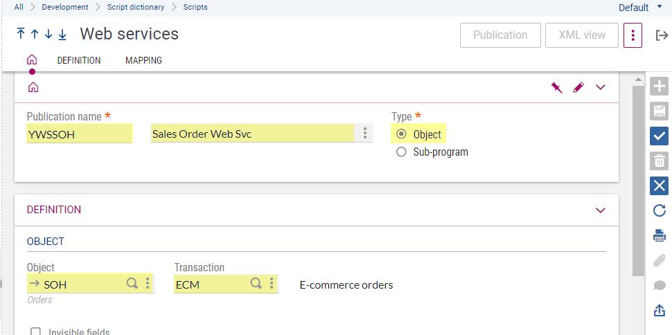 WS2 web services setup