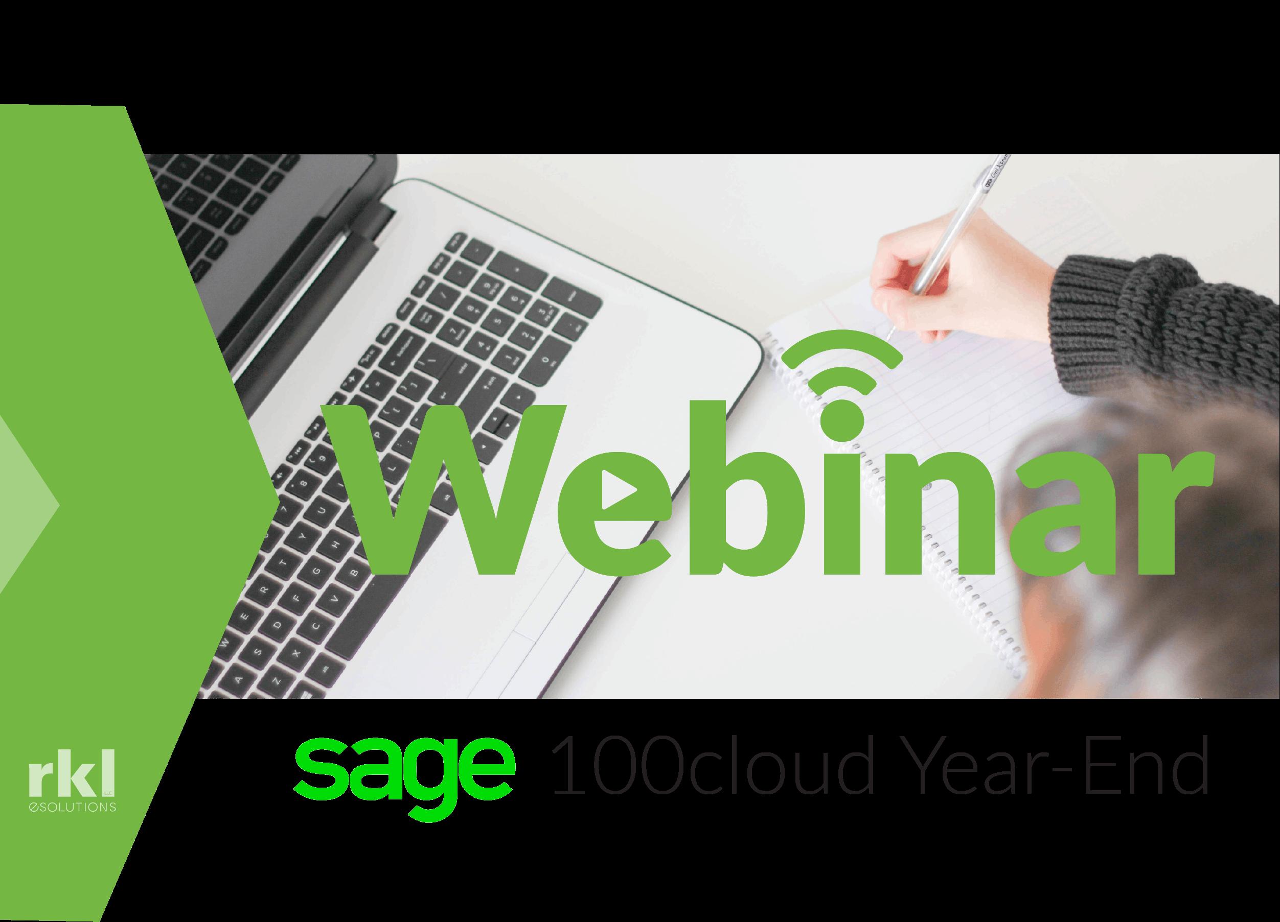 Webinar - Sage 100 year end